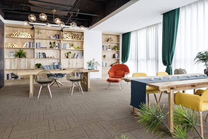 节能环保公司办公室装修设计案例