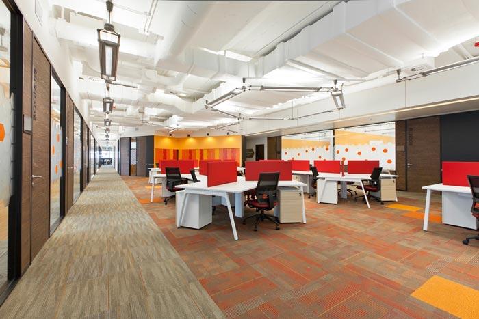 现代简约办公室装修设计案例效果图