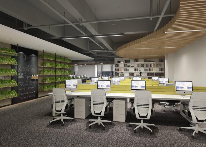 腾讯大浙网办公室装修设计案例效果图