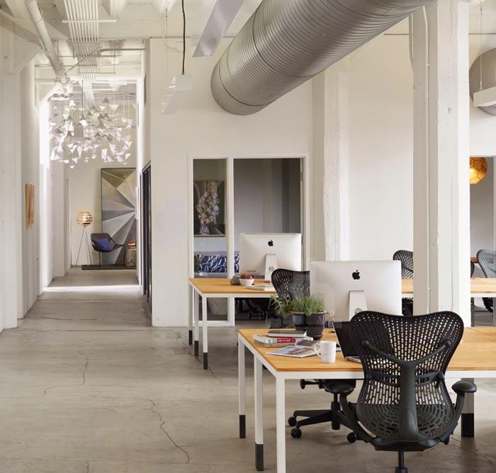 时尚办公室办公区修设计效果图
