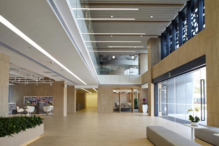 集团公司办公楼前台装修设计效果图