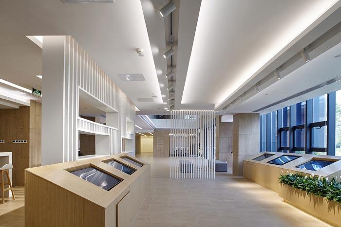 集团公司办公楼展示区装修设计效果图