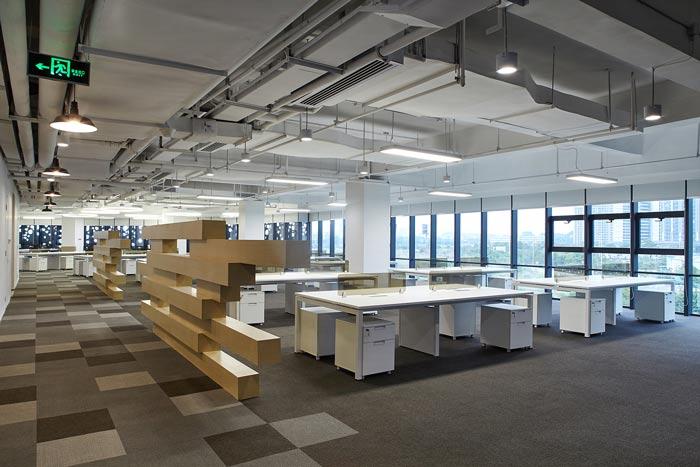 集团公司办公楼办公区域装修设计效果图