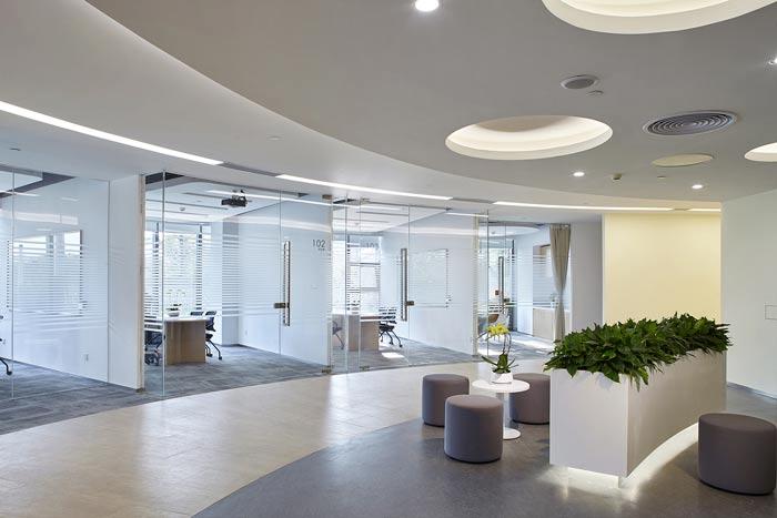 集团公司办公楼动线装修设计效果图