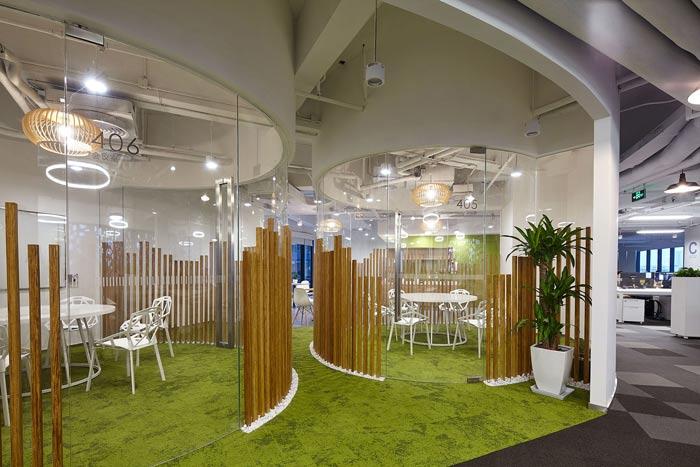 集团公司办公楼洽谈区装修设计效果图