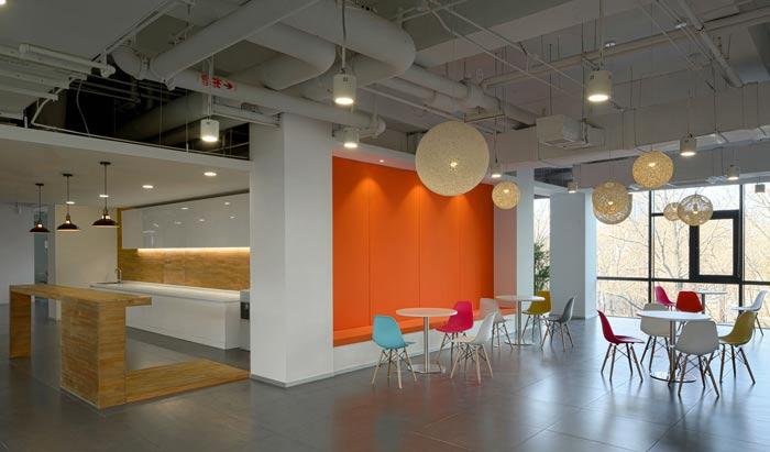 企业总部办公室休息区装修设计效果图