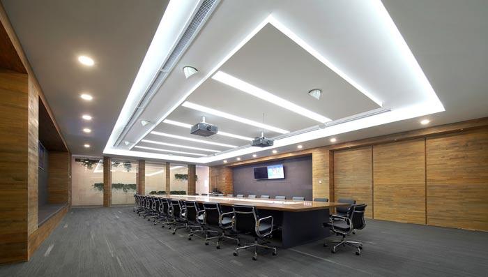企业总部办公室会议室装修设计效果图