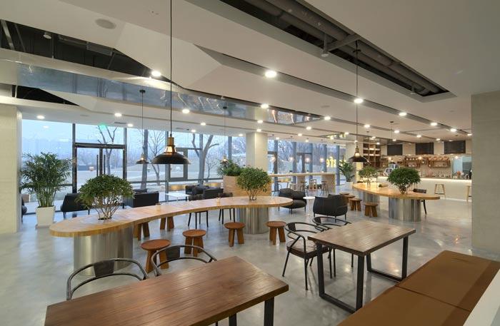 企业总部办公室茶水间装修设计效果图