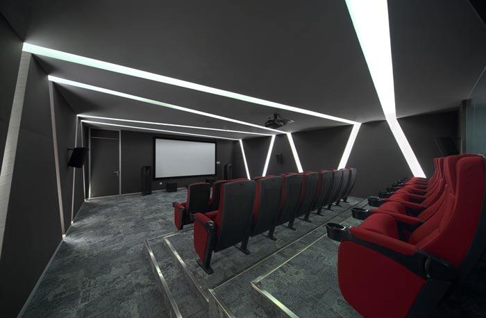 企业总部办公室电影区装修设计效果图
