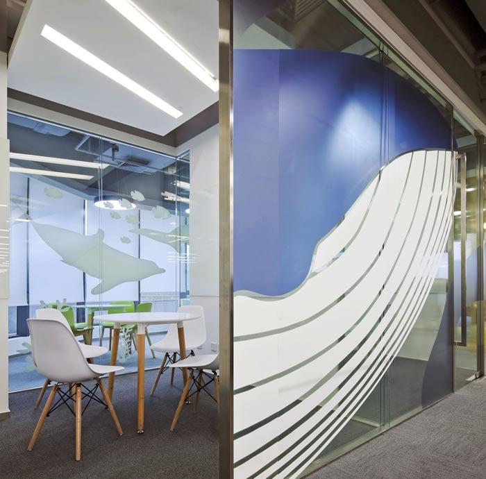科技公司办公室接待区装修设计效果图