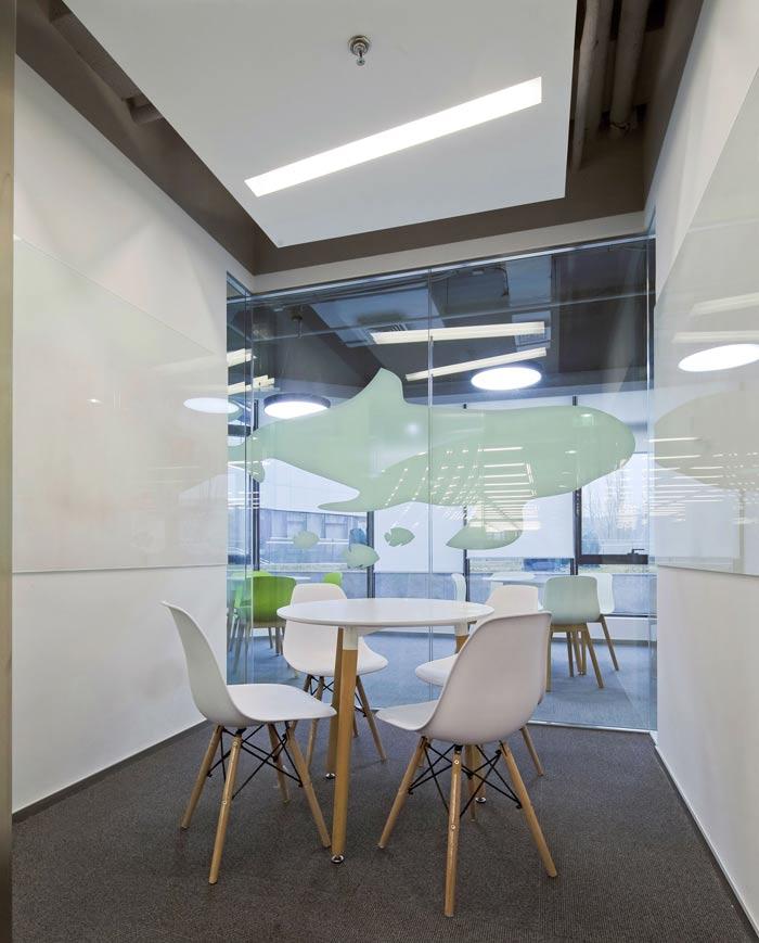 科技公司办公室接待室装修设计效果图