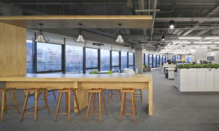 科技公司办公室办公区装修设计效果图