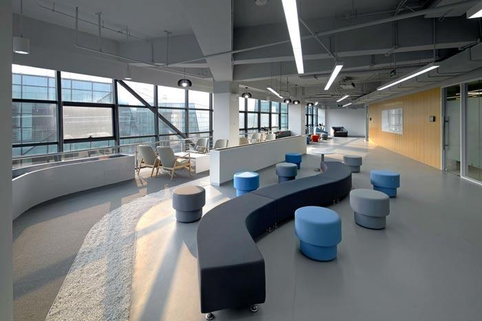 互联网公司办公楼接待区装修设计效果图