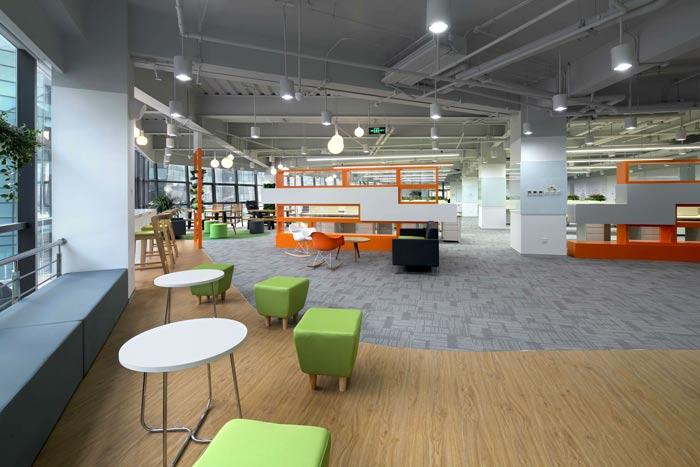 互联网公司办公楼交流区装修设计效果图