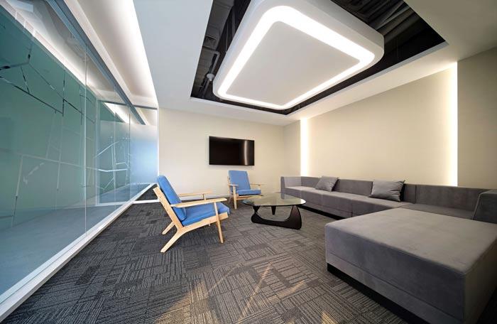 互联网公司办公楼讨论室装修设计效果图