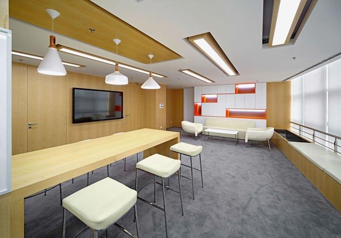 互联网公司办公楼阅读室装修设计效果图