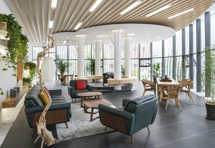 青岛办公室装修之融资租赁公司室内设计方案