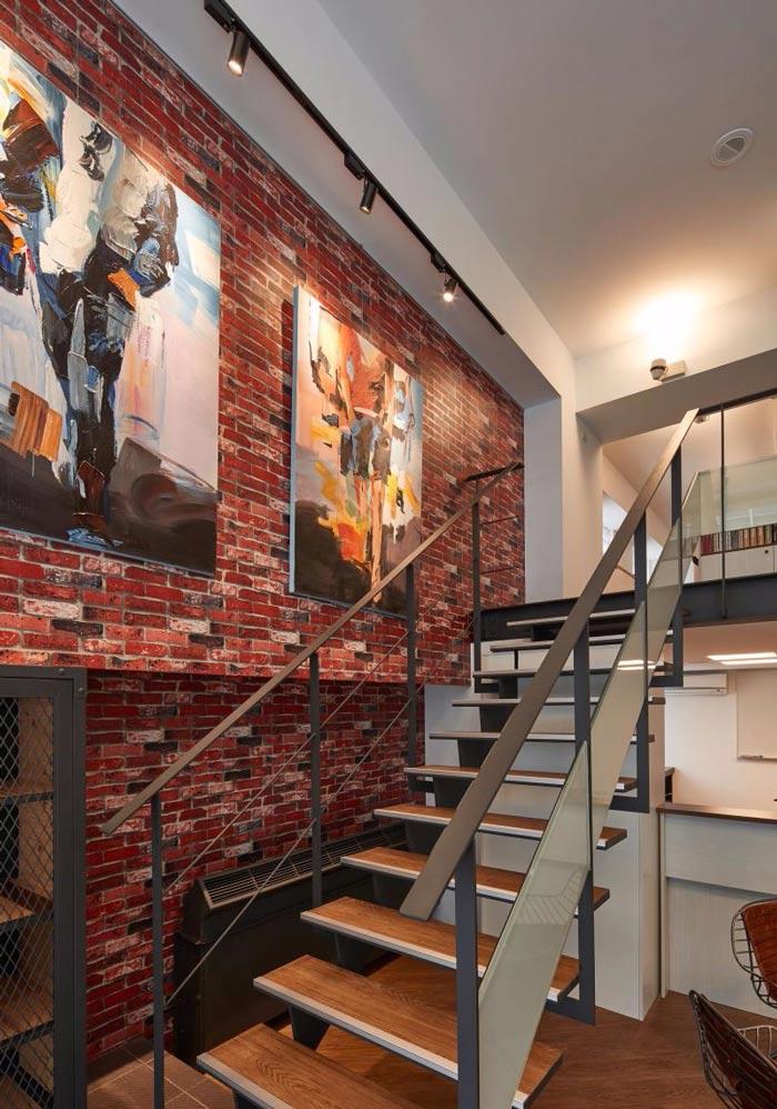 办公室改造楼梯装修设计案例效果图