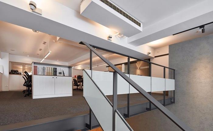 办公室改造二楼装修设计案例效果图