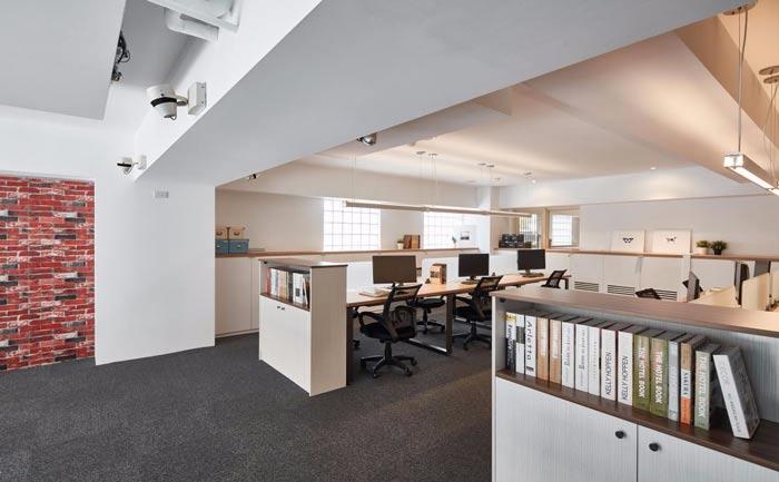 办公室改造横梁装修设计案例效果图