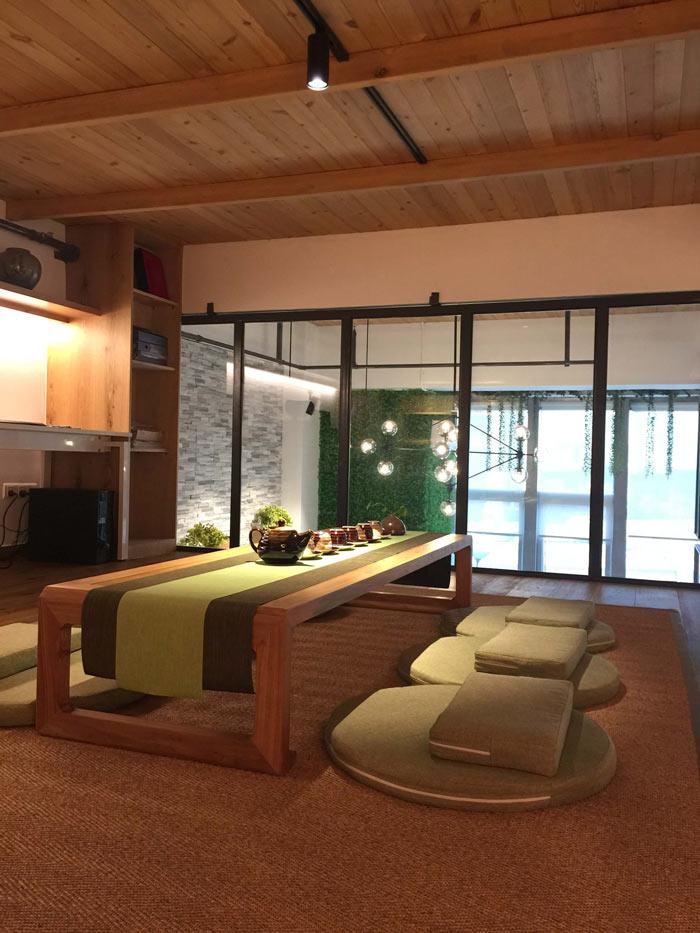 loft办公室二楼饮茶区装修设计案例