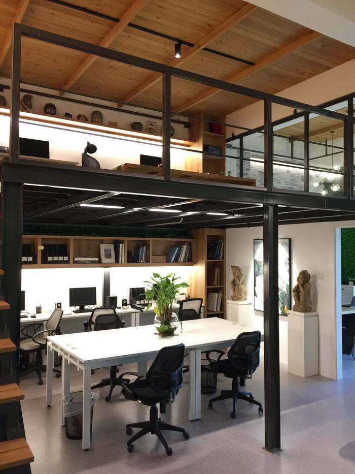loft办公室办公区装修设计案例