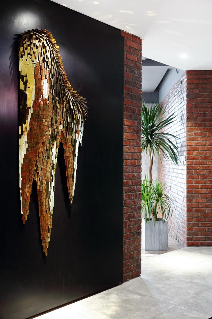 设计公司办公室形象墙装修设计效果图