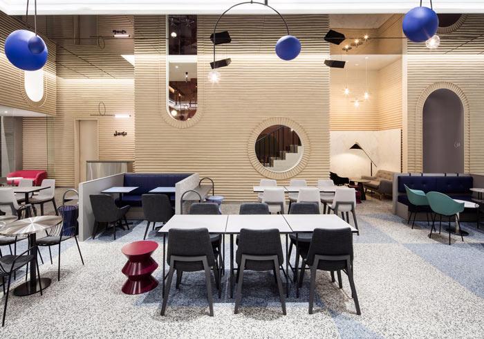 视觉传媒公司办公室交流区装修设计效果图