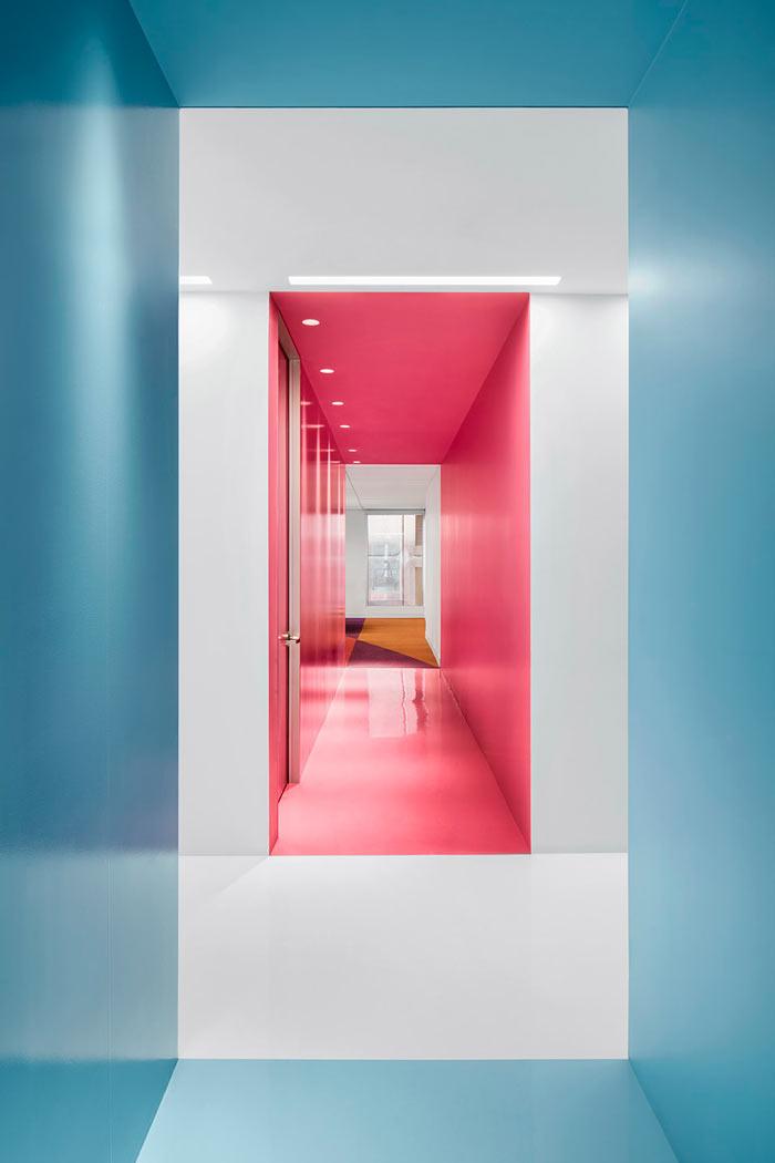 娱乐公司办公室走廊装修设计效果图