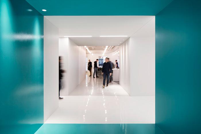 娱乐公司办公室动线装修设计效果图