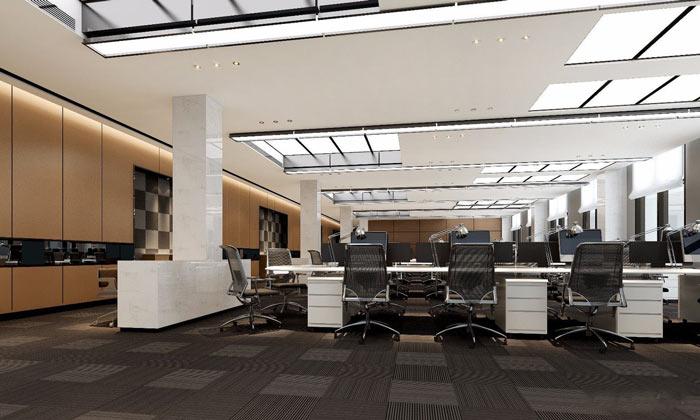 集团总部办公室办公区装修设计效果图