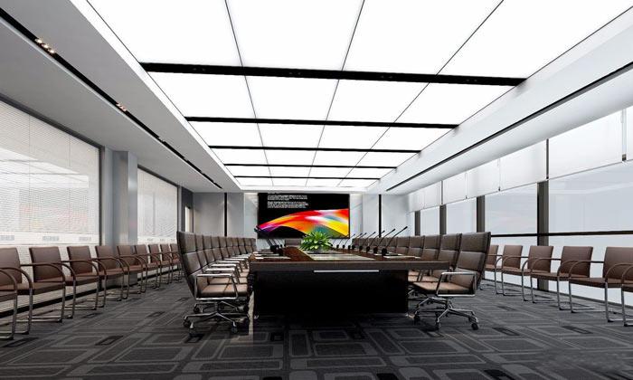 集团总部办公室大会议室装修设计效果图
