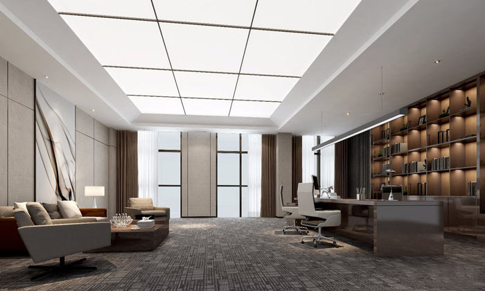 集团总部总裁办公室装修设计效果图