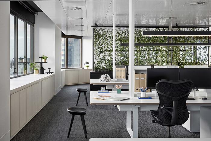 食品公司办公室办公区装修设计效果图