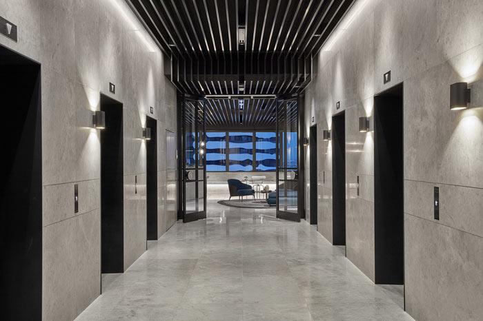 食品公司办公室电梯间装修设计效果图