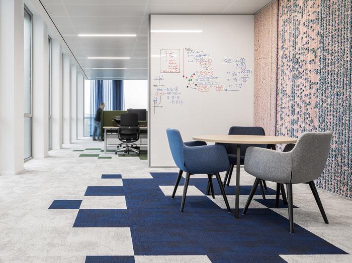绿色食品公司办公室办公区装修设计效果图