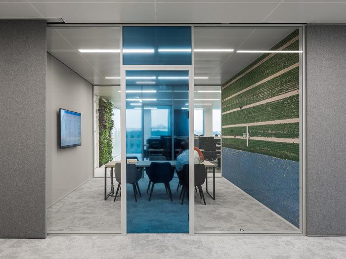 绿色食品公司办公室洽谈区装修设计效果图