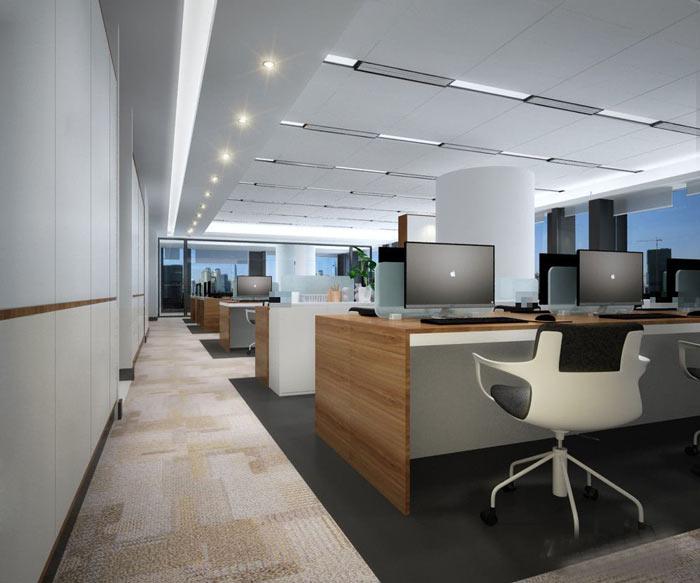 风投公司办公室办公区域装修设计效果图