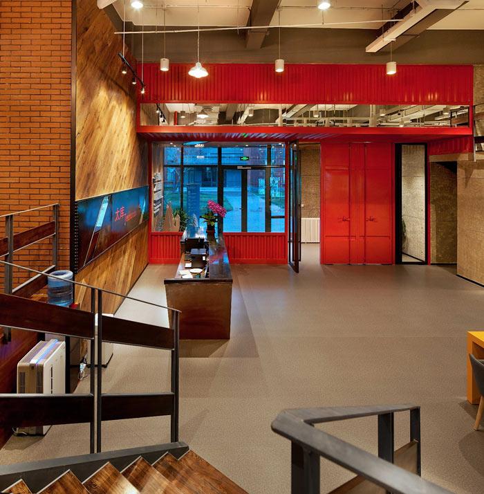 创客孵化中心办公楼大厅装修设计效果图