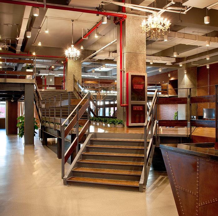 创客孵化中心办公楼楼梯装修设计效果图