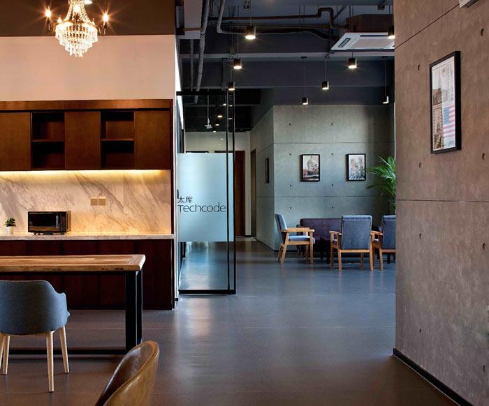 创客孵化中心办公楼交流区装修设计效果图