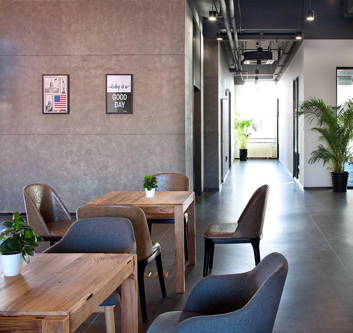 创客孵化中心办公楼休息区装修设计效果图