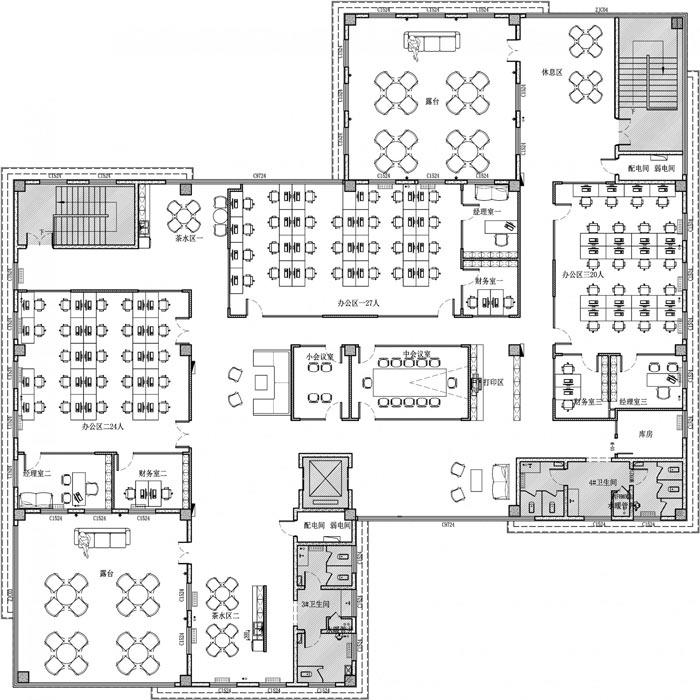 创客孵化中心办公楼设计平面图