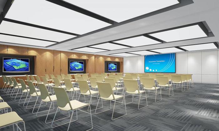 信息技术公司办公室培训室装修设计效果图