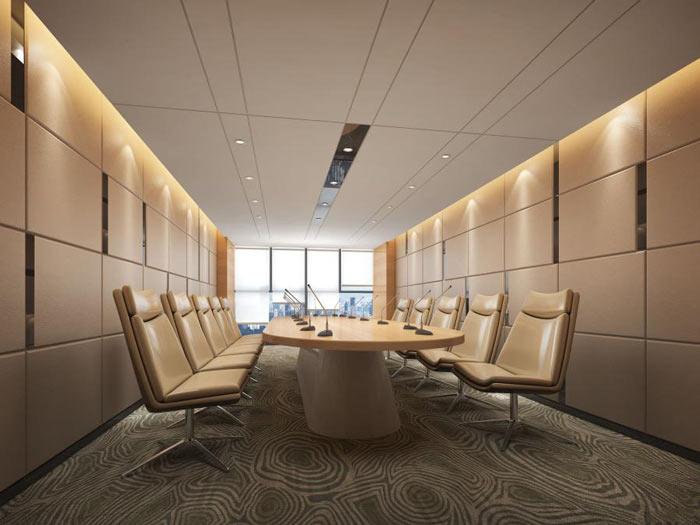信息技术公司办公室会议室装修设计效果图