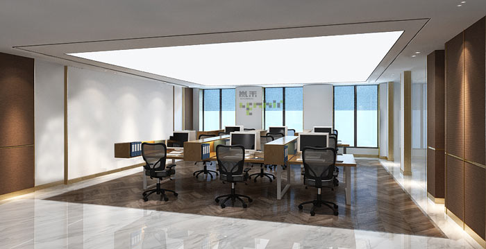 小型新中式办公室装修设计效果图