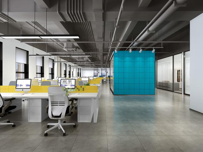通信科技公司办公室装修设计效果图