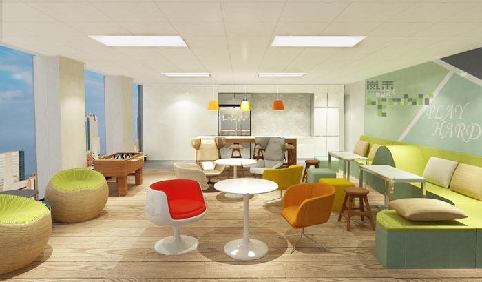 贵金属投资公司办公室装修设计效果图