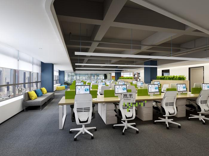 信息科技公司办公室装修效果图赏析
