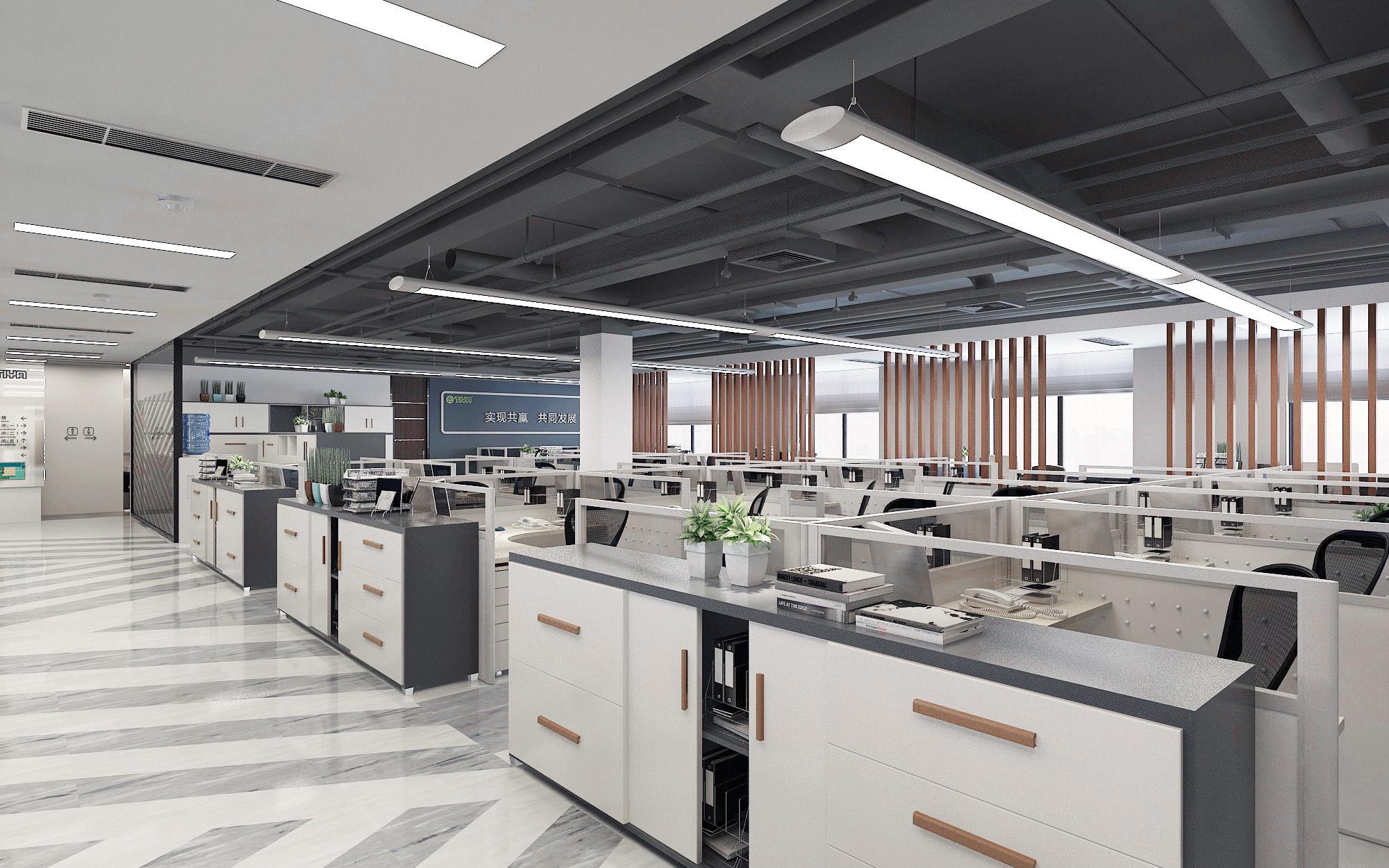 青岛办公室装修之1200平办公空间室内改造